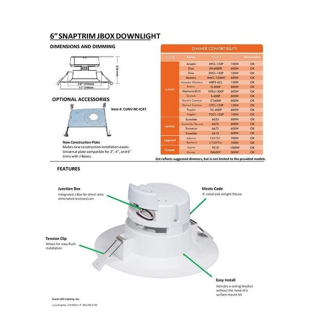 Shop 6 inch j box canless led downlight 9w6575w equivalent shop 6 inch j box canless led downlight 9w6575w equivalent 40000 life hours dimmable available colors 27k30k40k50k on sale free shipping on cheapraybanclubmaster Gallery