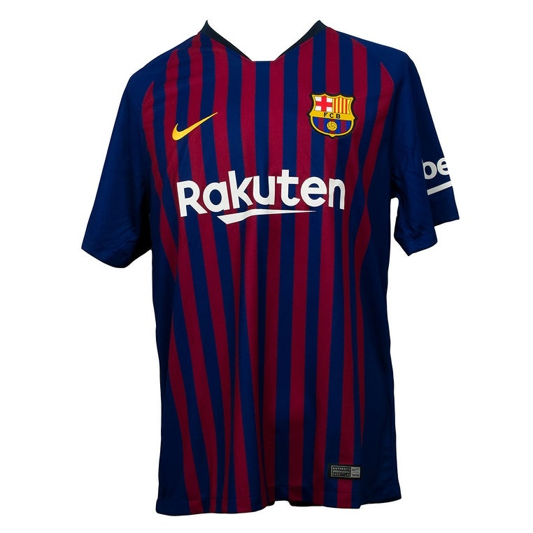 d1b657cae01 Shop Lionel Messi Signed Nike Barcelona Home Soccer Jersey Large Beckett+Messi  COA - Free Shipping Today - Overstock - 27624035