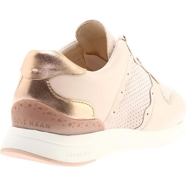 a728ec381e9 Shop Cole Haan Women s Grandpro Sneaker Peach Blush Leather Rose Gold  Metallic Optic White - Free Shipping Today - Overstock - 22864106