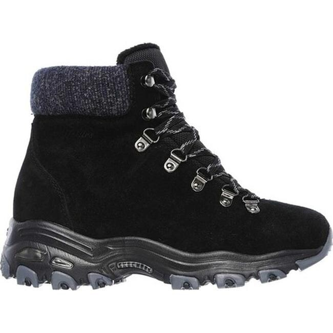 370cfbce029 Skechers Women's D'Lites Powder Cold Weather Ankle Boot Black