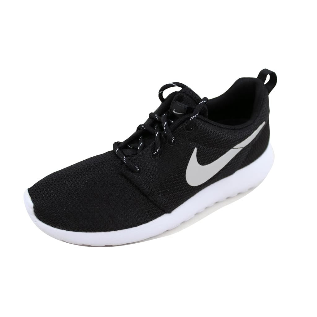 5218ce23f664 Shop Nike Women s Roshe One Black Metallic Platinum-White 511882-094 ...