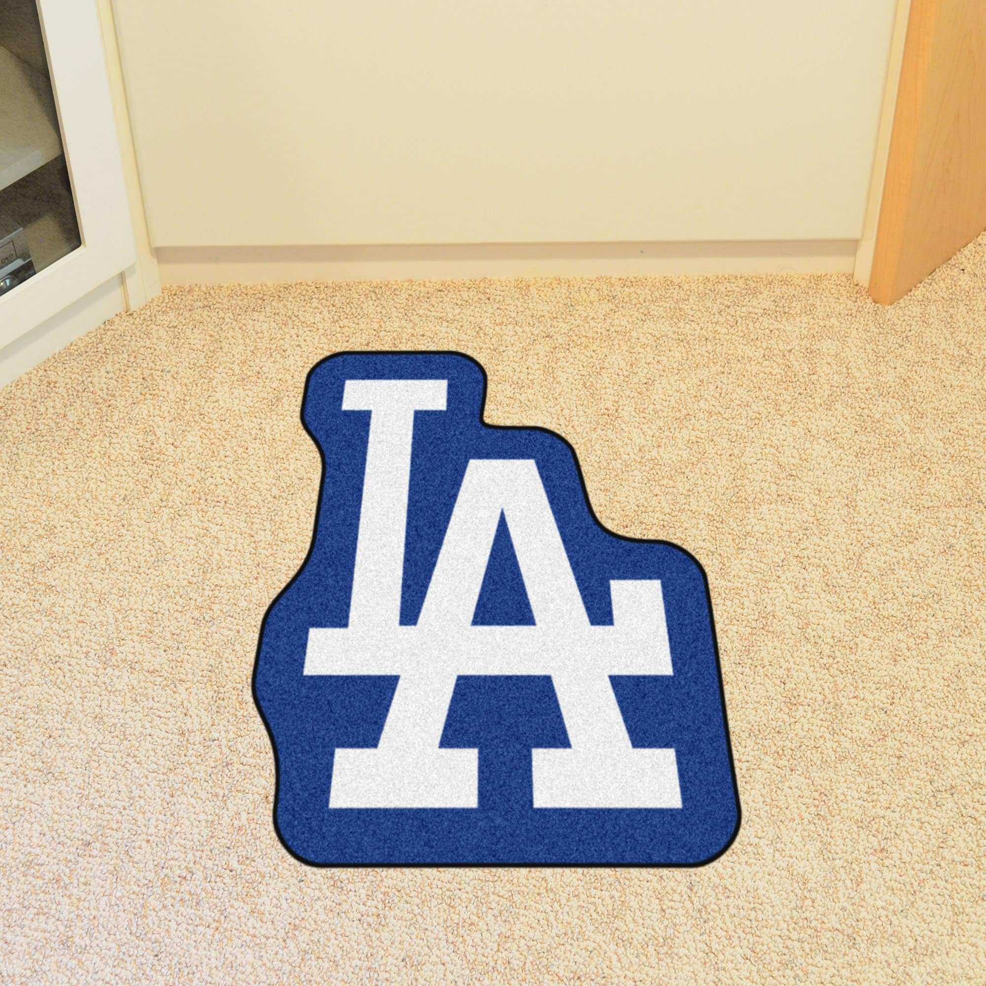 Shop MLB Los Angeles Dodgers Mascot Novelty Logo Shaped Area Rug ...