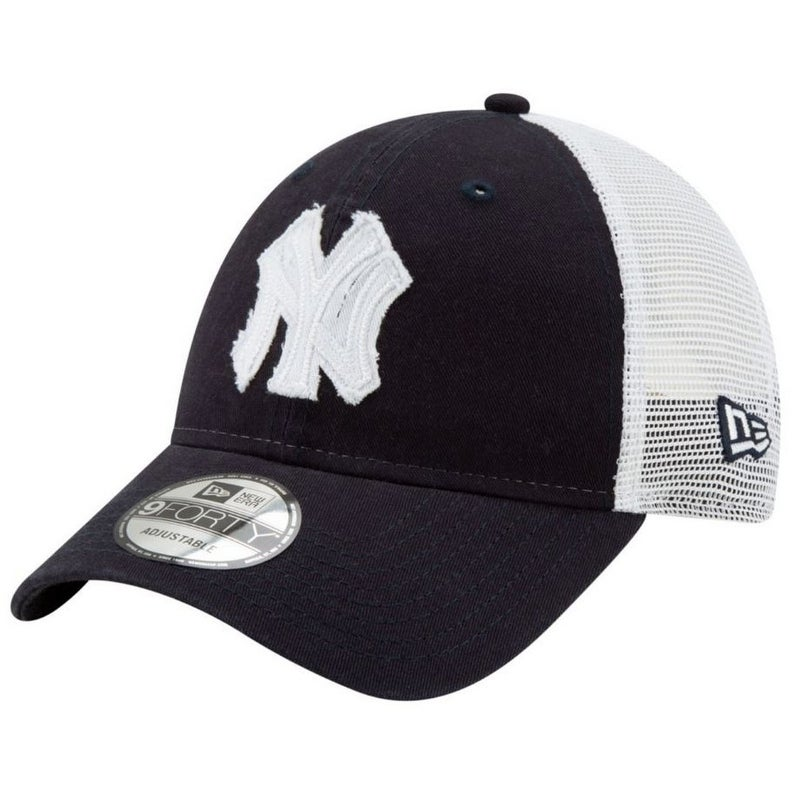 2b7ad44876c Shop New Era 2019 MLB New York Yankees Baseball Cap Hat Truckered Frayed  Logo 9Forty - Free Shipping On Orders Over  45 - Overstock - 27341188