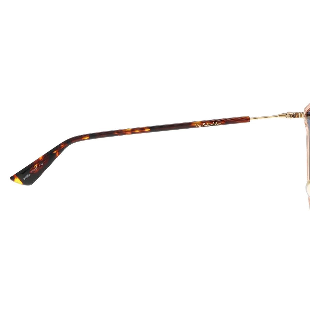 7af7f7802c719 Shop Christian Dior DIORSOREALRISE 0S45 Pink Gold Irregular Sunglasses - 58- 17-145 - Ships To Canada - Overstock - 21877342