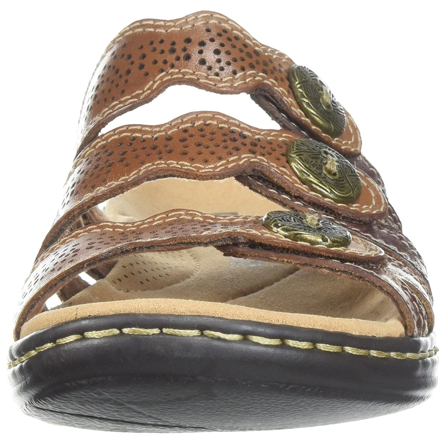 4e8813591e7 Shop CLARKS Womens Leisa Grace Leather Open Toe Casual Slide Sandals - Free  Shipping On Orders Over  45 - Overstock - 20722182