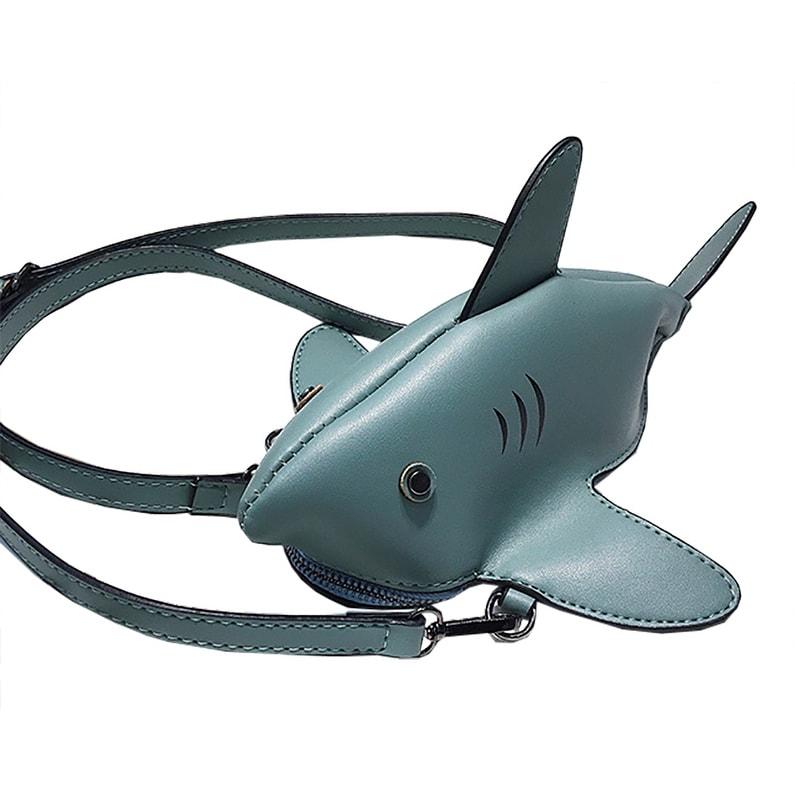 7f9e77ed6bb6 QZUnique Women Cartoon 3D Shark Animal Design Crossbody Messenger Bag  Zipper Shoulder Handbag Purse