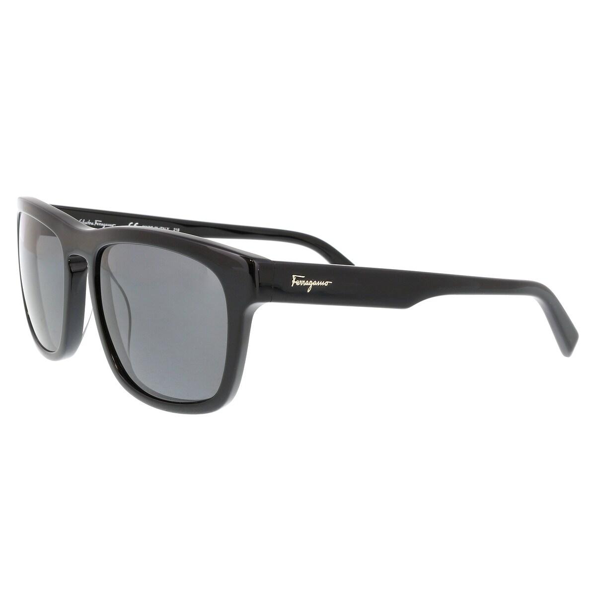 f2adf9c930b Shop Salvatore Ferragamo SF789 SP 001 Black Rectangle Sunglasses ...