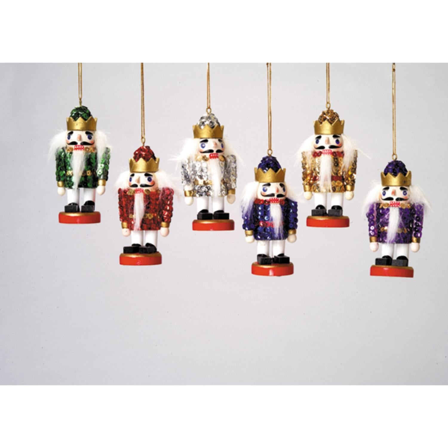 Shop Club Pack of 36 Sequined Christmas Nutcracker Ornaments 4 ...