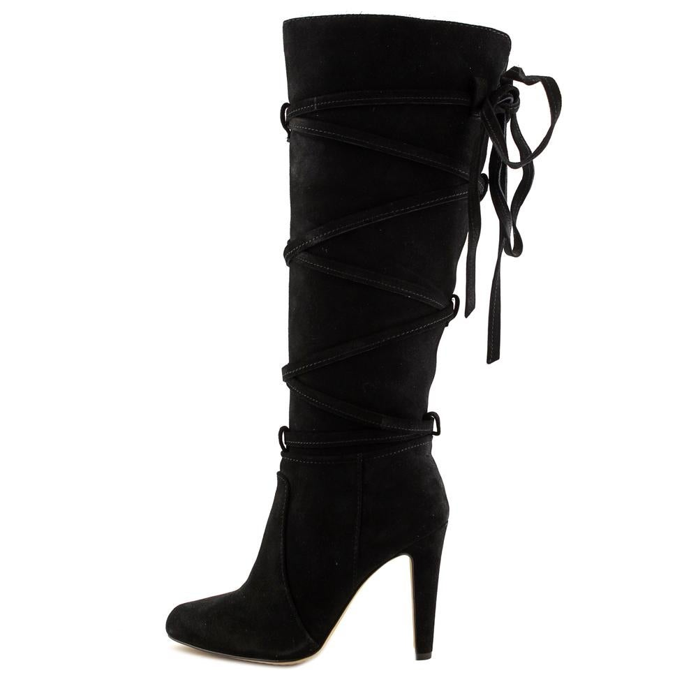 0a96c18135e Shop Vince Camuto Millay Women Round Toe Suede Black Knee High Boot - Free  Shipping Today - Overstock - 17813249