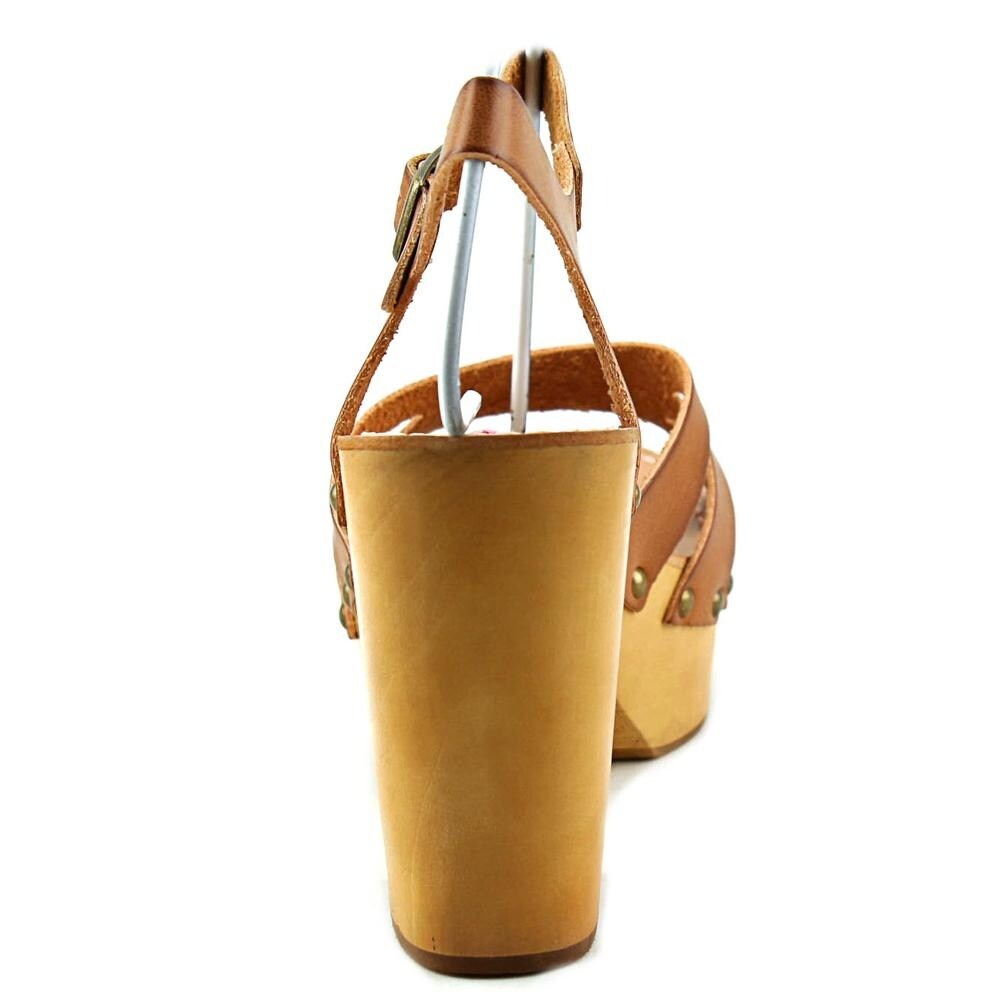 a464b7eb9709 Shop Coolway Cassandra Women Open Toe Leather Tan Platform Sandal - Free  Shipping On Orders Over  45 - Overstock - 13887119