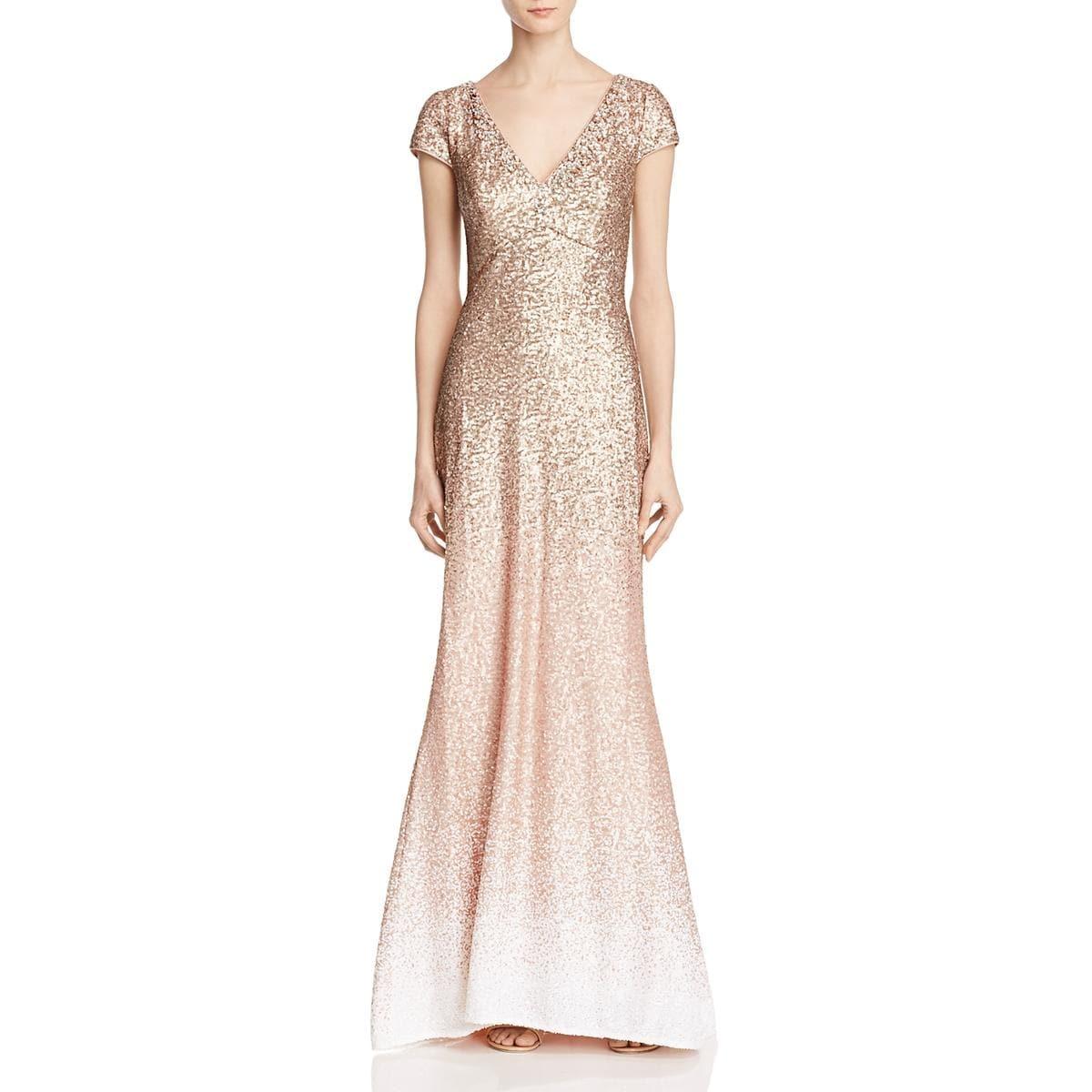 Shop Carmen Marc Valvo Womens Evening Dress Sequined Ombre - Free ...