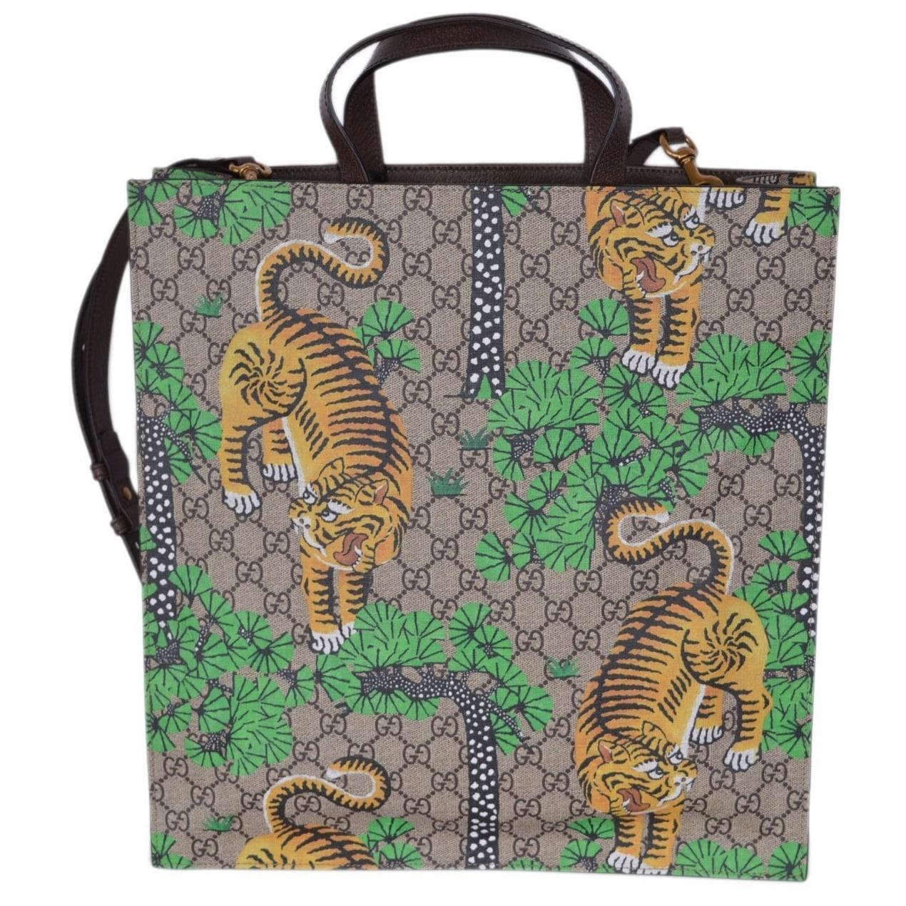 02a3eb5ca6c6 Shop Gucci Women's GG Supreme Bengal Tiger Crossbody Purse Tote - Multi -  14