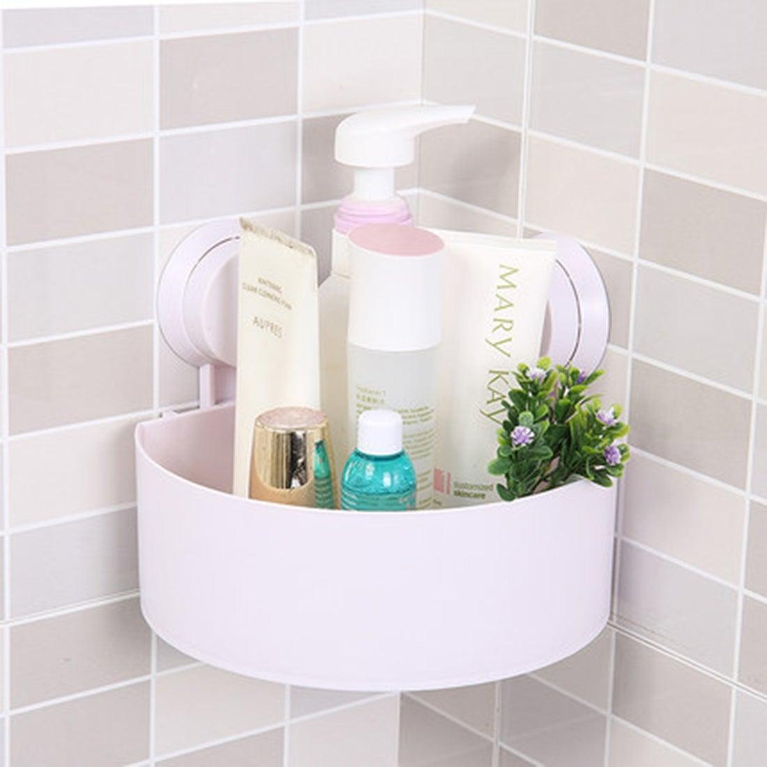 Shop Unique Bargains Plastic Bathroom Wall Corner Suction Cup ...