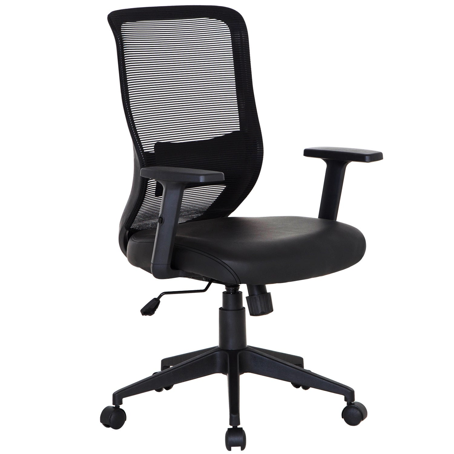 Office Chair Pu Surface Cushion Adjustable Swivel Mesh Desk Chairs