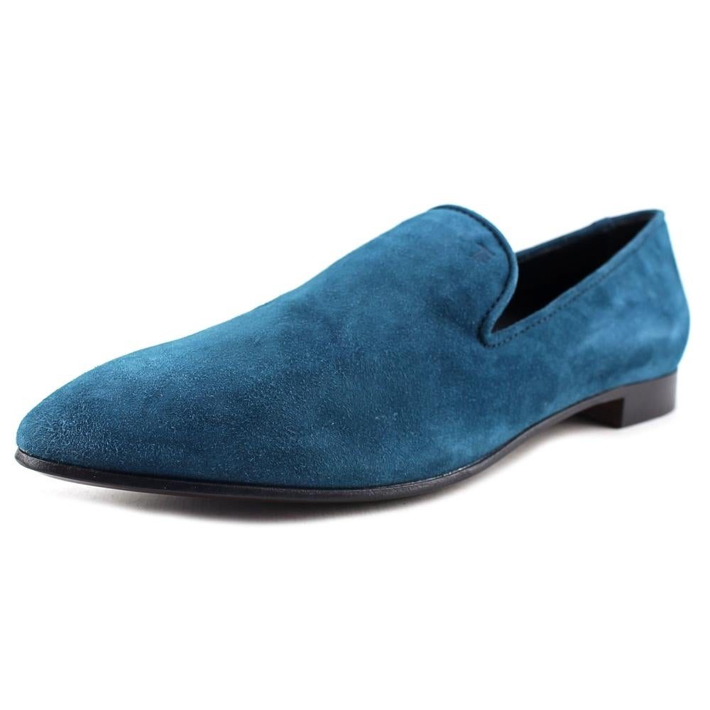 Shop Tod\'s Mocassino Cuoio QC Pantofola HR0 Pavone Flats - Free ...