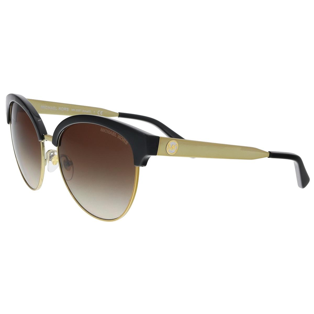 d3177ad587 Shop Michael Kors MK2057 330513 Gold Cat eye Sunglasses - 56-17-140 ...