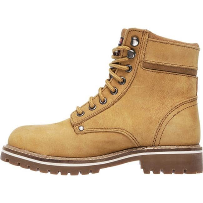 5e503f84e212e Shop Skechers Women's Work Brooten Steel Toe Boot Caramel - On Sale - Free  Shipping Today - Overstock - 14283926