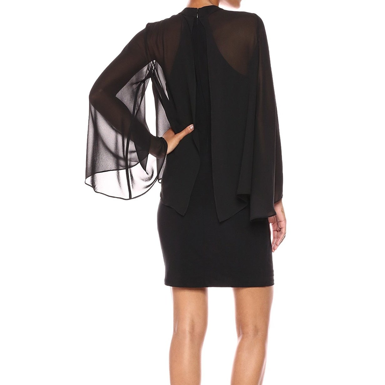 a22e8a9398d6 Shop Laundry by Shelli Segal Black Women s Size 8 Cutout Sheath ...