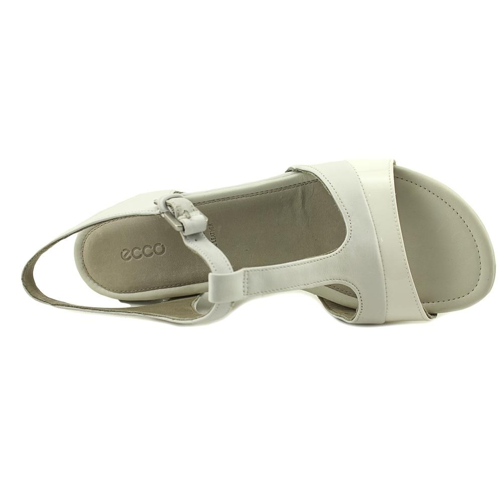 697e8e07bbe Shop Ecco Touch 25 S Women Open-Toe Leather White Slingback Sandal - Free  Shipping Today - Overstock.com - 20280288