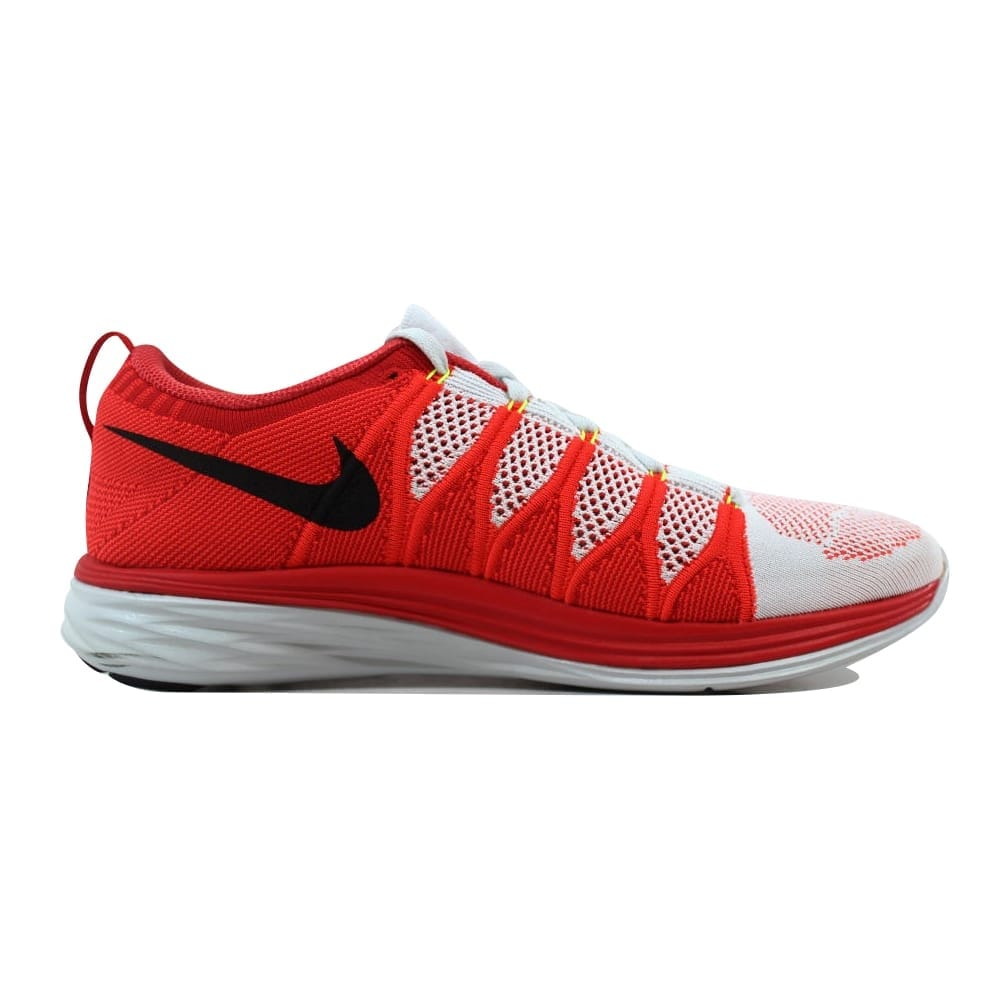 3b4a60a0c9c Shop Nike Flyknit Lunar2 Pure Platinum Black-Bright Crimson-University Red  620465-006 Men s - Free Shipping Today - Overstock - 21141512