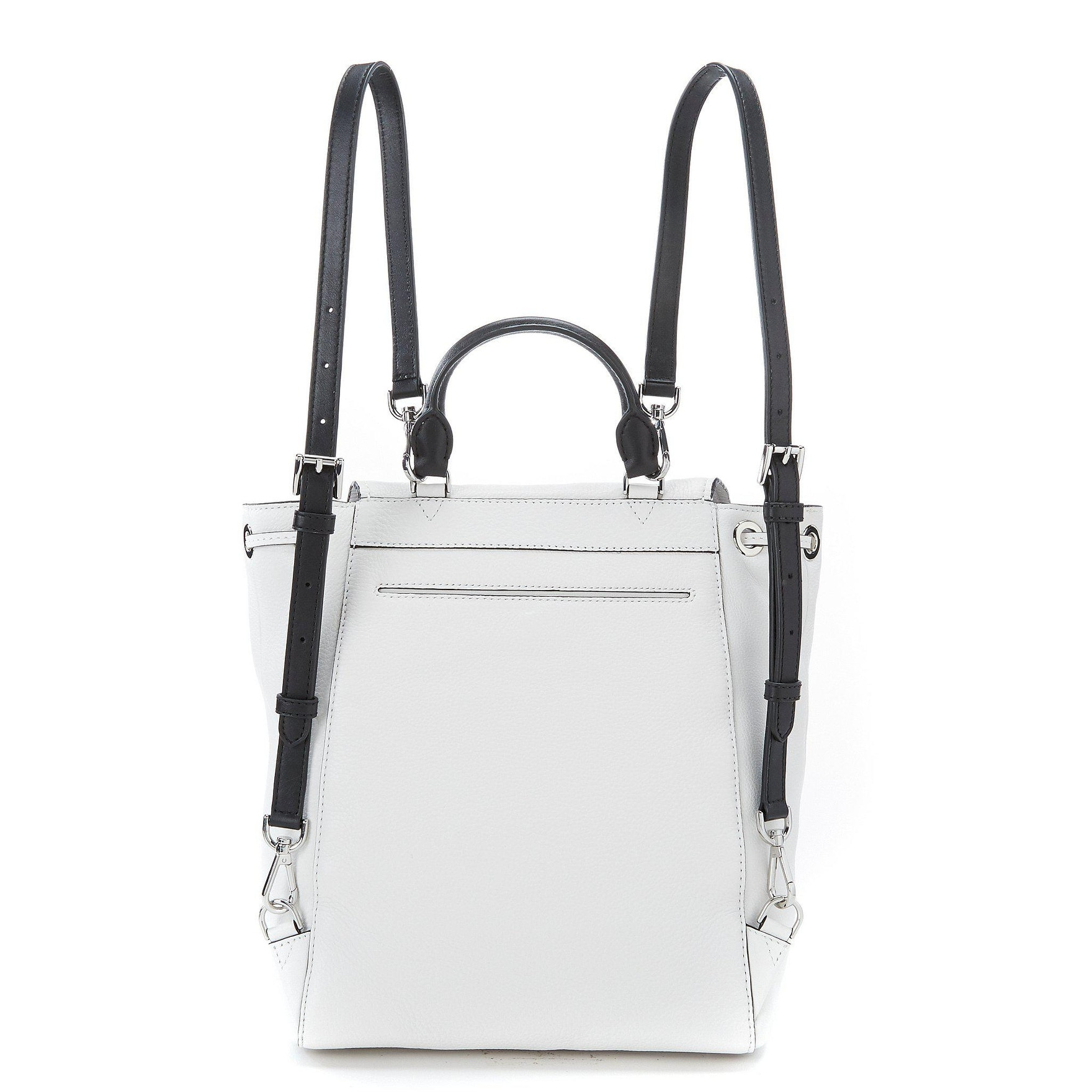 b2880d19e8fbb6 Shop Michael Kors Evie Pebbled Leather Medium Backpack in Optic White -  Free Shipping Today - Overstock - 22876421