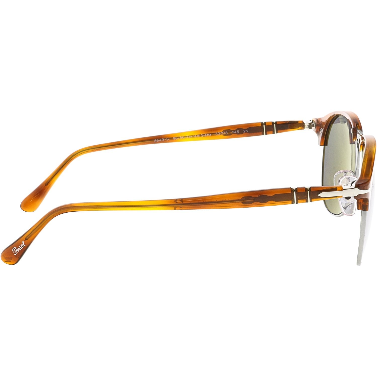 9a43f3ff56 Shop Persol Men s Mirrored PO8649S-96 56-53 Brown Clubmaster Sunglasses -  Free Shipping Today - Overstock.com - 18890836