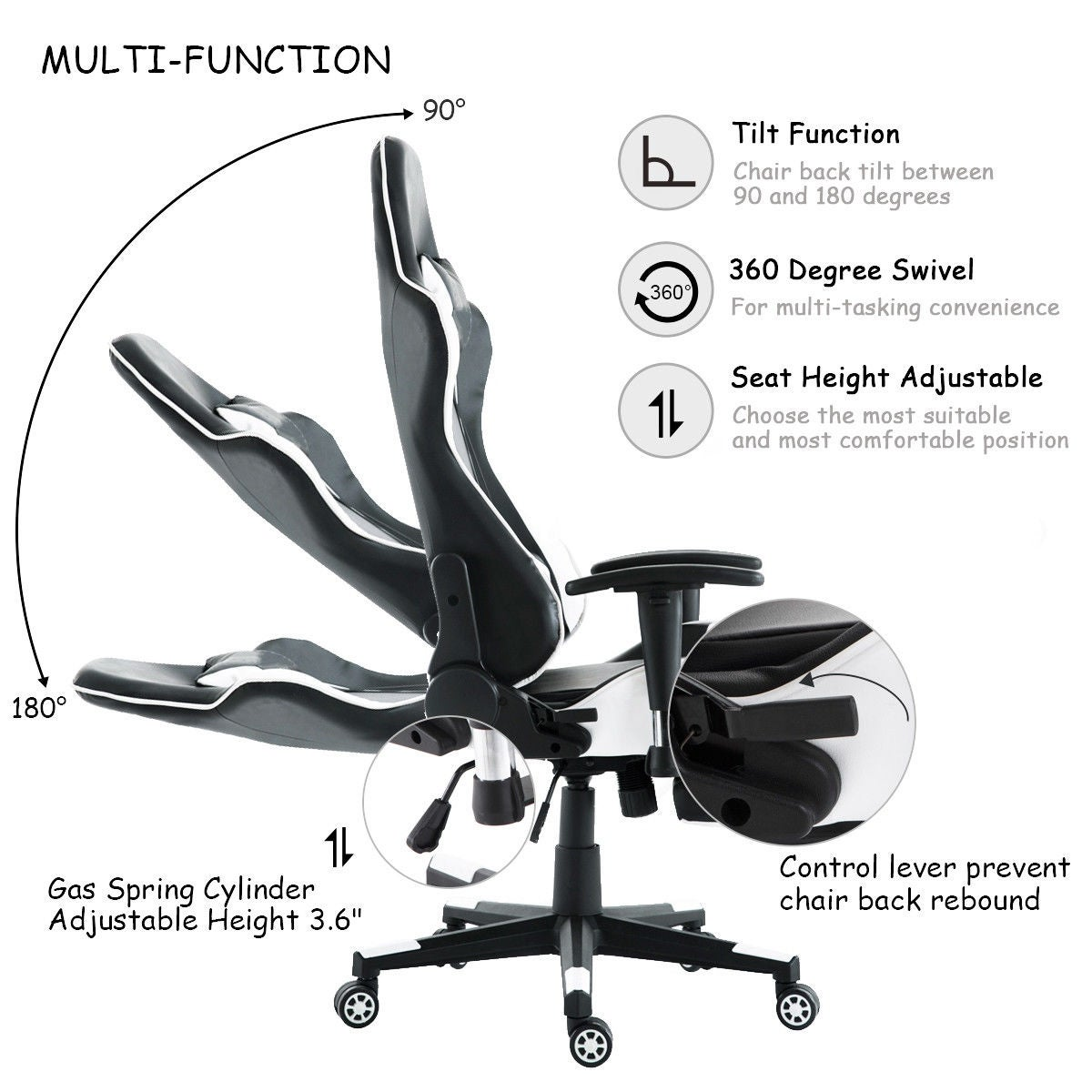 product gaming black red series xl zqracing office alien chair