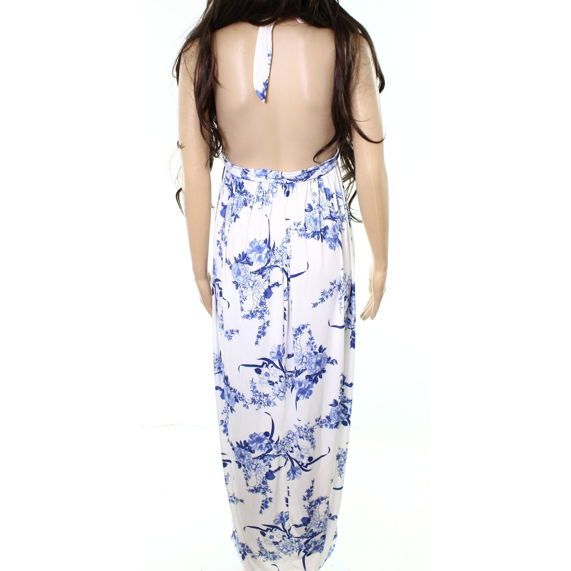 3fdd01d5f015 Shop Boohoo NEW Blue White Womens Size 10 Cutout Floral-Print Sheath Dress  - Free Shipping On Orders Over $45 - Overstock - 20858980