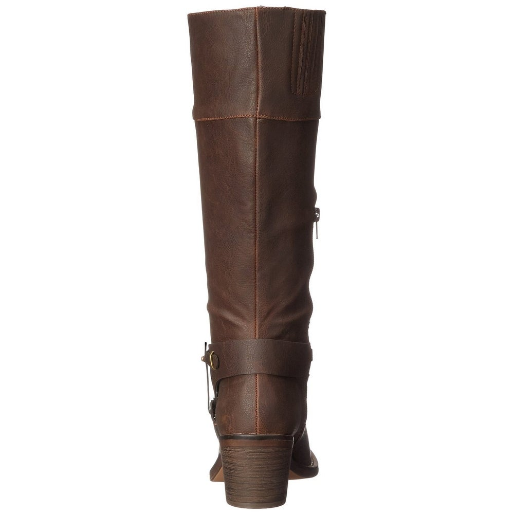8af6645ec3ca Shop XOXO Womens MARISA Square Toe Mid-Calf Cowboy Boots - Free Shipping  Today - Overstock - 14537517