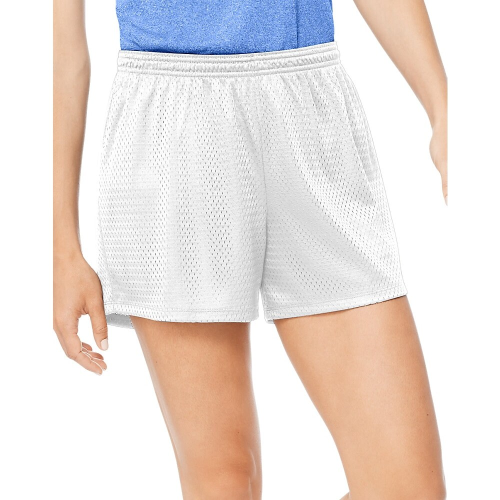 ce5602ed0f Shop Hanes Sport™ Women's Mesh Shorts - Color - White - Size - 2XL - Free  Shipping On Orders Over $45 - Overstock - 24141577