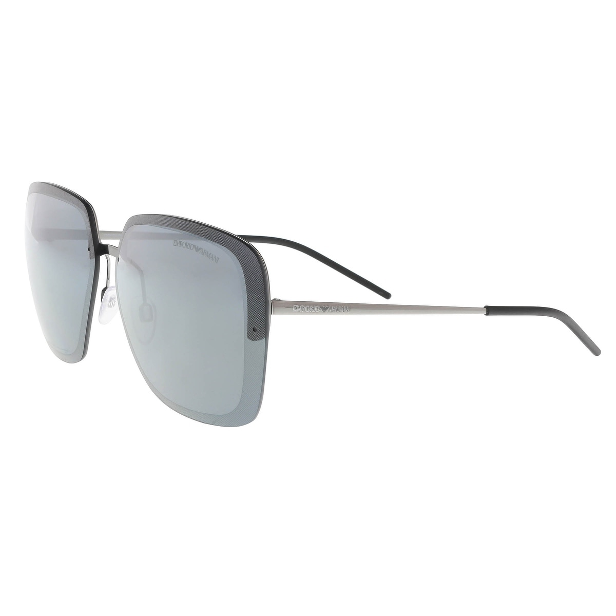 a7ee1d6c7b Shop Emporio Armani EA2045 30106G Charcoal Silver Square Sunglasses - 62-12- 140 - Free Shipping Today - Overstock.com - 19518859