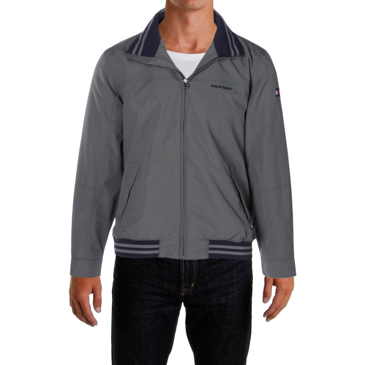 ad45b0e0 Shop Tommy Hilfiger Mens Regatta Jacket Water Resistant Mock Collar - Free  Shipping On Orders Over $45 - Overstock - 13318613