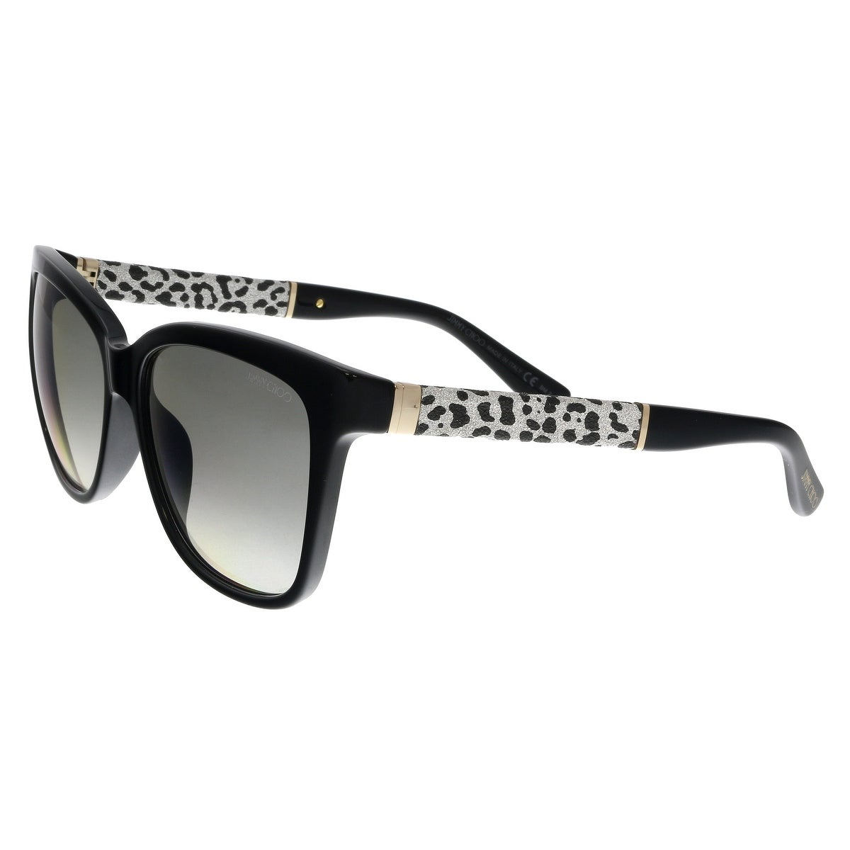 d62bc109f2f47 Shop Jimmy Choo CORA S FA3 Black Glitter Square Sunglasses - No Size ...
