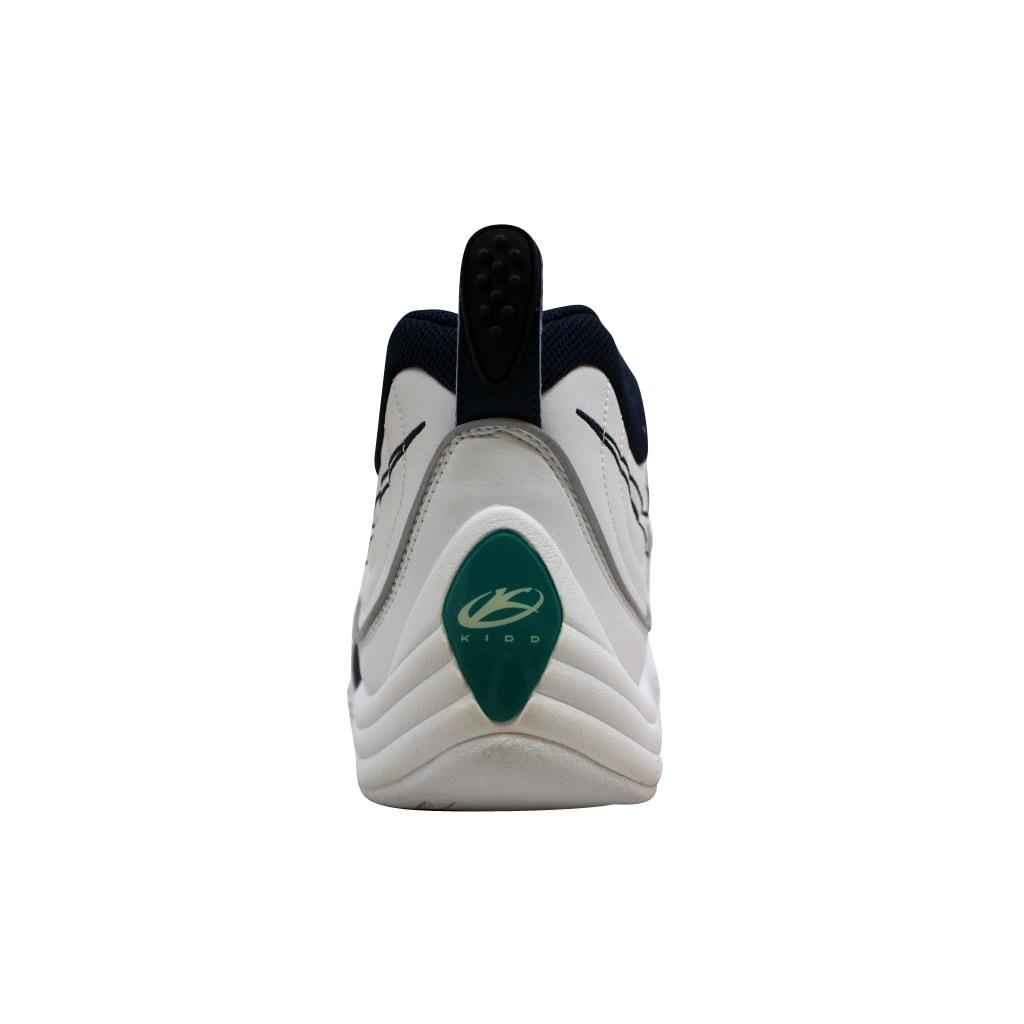 b4fd760764e1 Shop Nike Men s Air Zoom Flight Five B White Midnight Navy-Metallic Silver  Jason Kidd 624055-141 Size 15 - Free Shipping Today - Overstock - 20139490