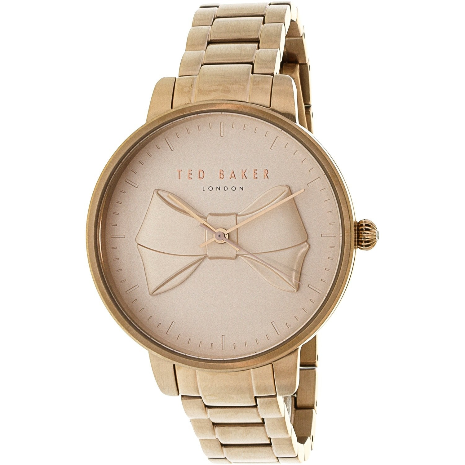 578c29948a792d Shop Ted Baker Women s Brook Rose-Gold Stainless-Steel Fashion Watch - Free  Shipping Today - Overstock - 19385437