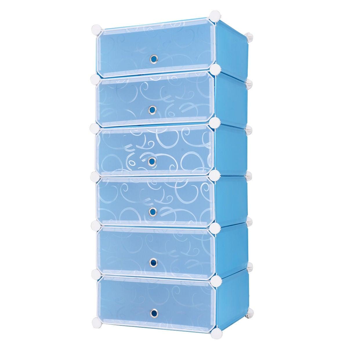 Shop Costway 6 Cubic Portable Shoe Rack Shelf Cabinet Storage Closet ...
