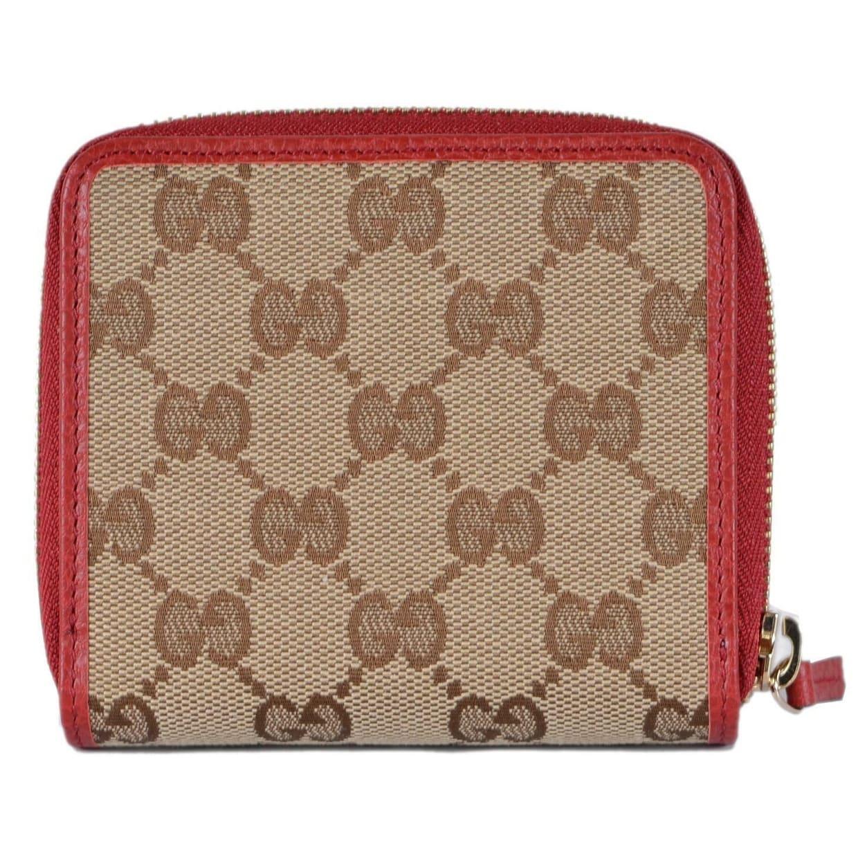 cdf562e7f467e7 Shop Gucci Women's 346056 Beige Red GG Guccissima French Zip Around Wallet  - 4