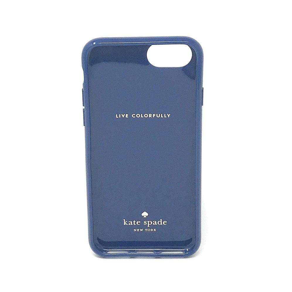 wholesale dealer 68b2b 5e555 Kate Spade New York Diagonal Stripe Protective Rubber Case For iPhone 7  Plus & iPhone 6 Plus - Silver Glitter/Cream/Navy