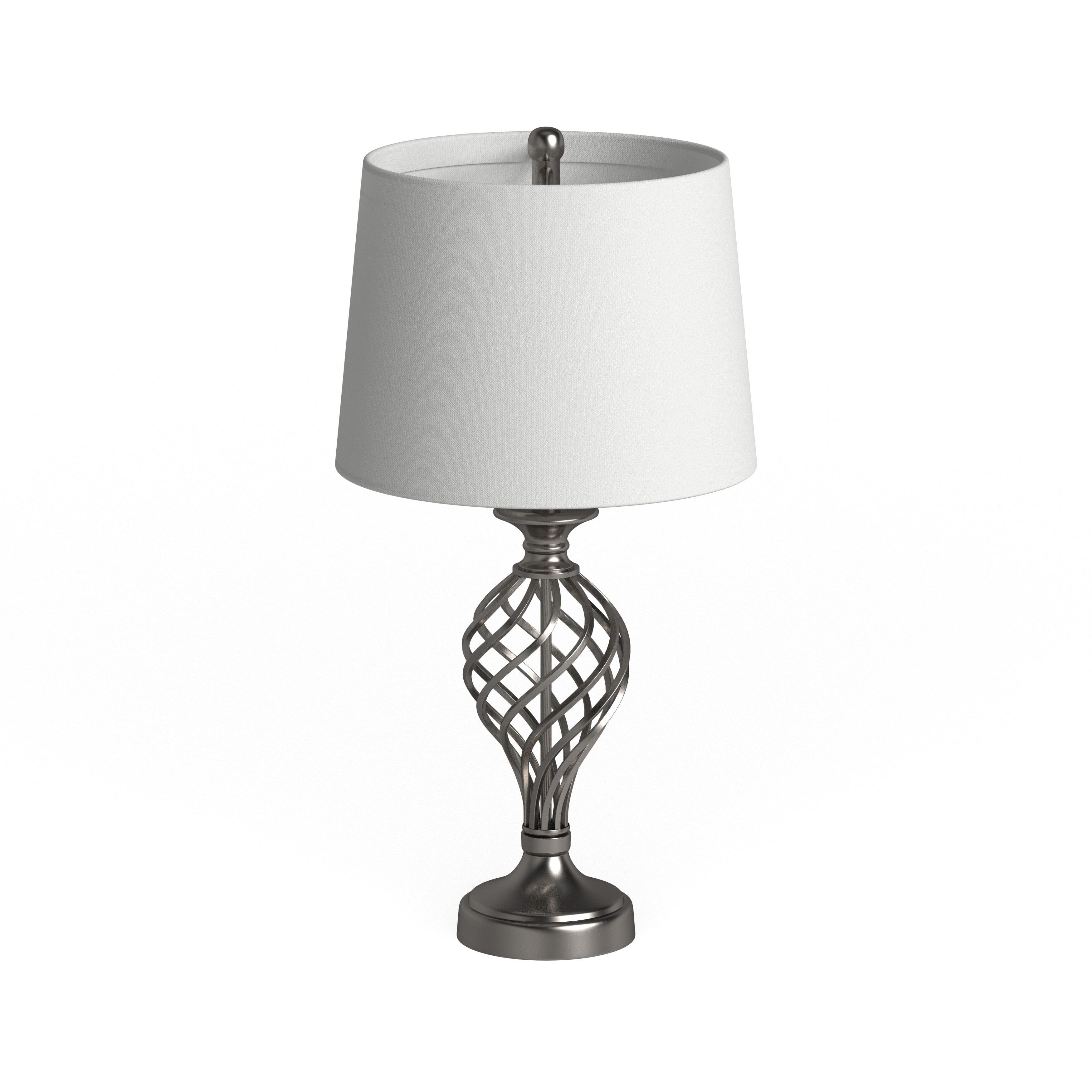 Safavieh Lighting 27 Inch Lattice Urn Nickel Table Lamp Set Of 2 14 X14 X26 75 On Sale Overstock 9527283