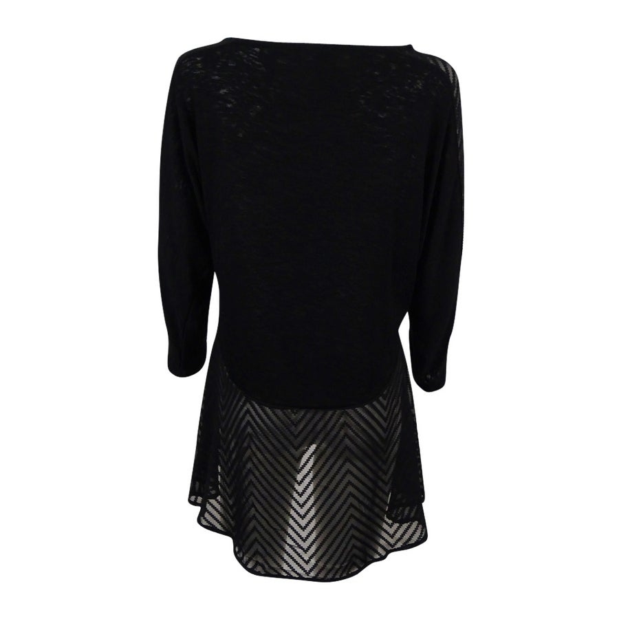 963a937e8ed Shop Alfani Women s Mixed-Media Top - On Sale - Free Shipping On Orders  Over  45 - Overstock.com - 17795493