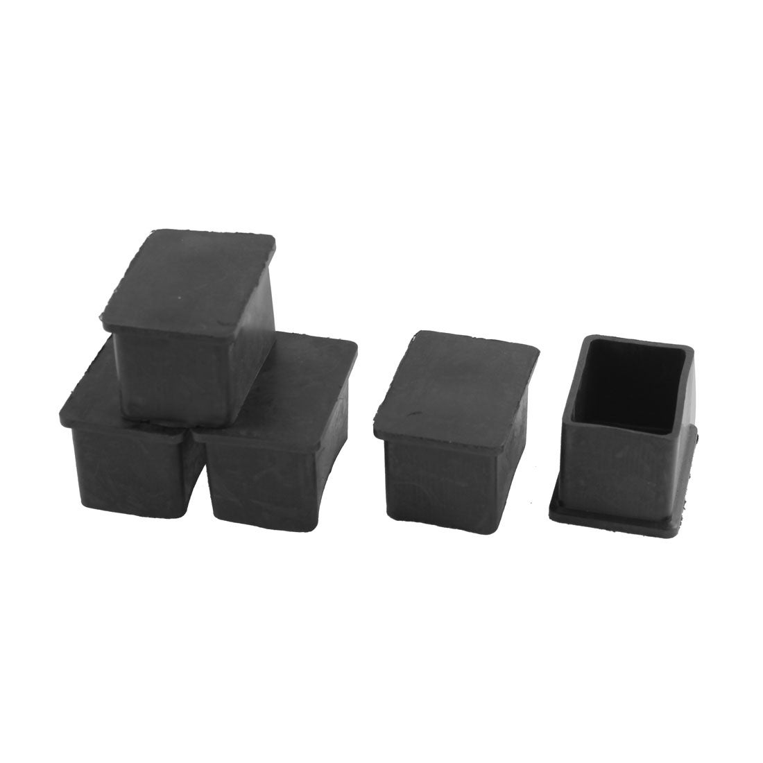 Shop 5 pcs rectangle rubber chair table leg end caps furniture covers 25mm x 38mm free shipping on orders over 45 overstock com 17627070