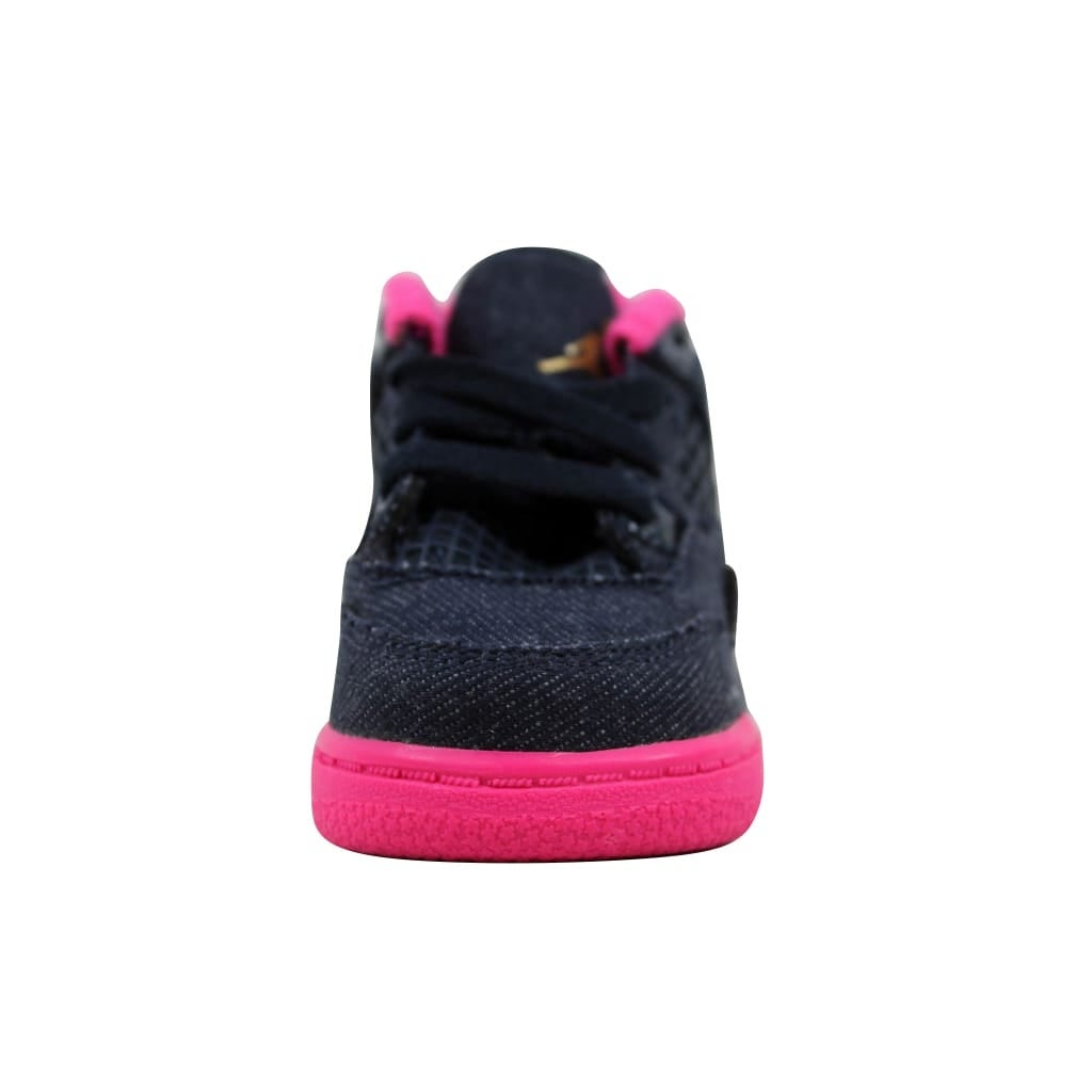 aa5be1b9bd24 ... ireland shop nike toddler air jordan iv 4 retro dark obsidian metallic  gold vivid pink denim