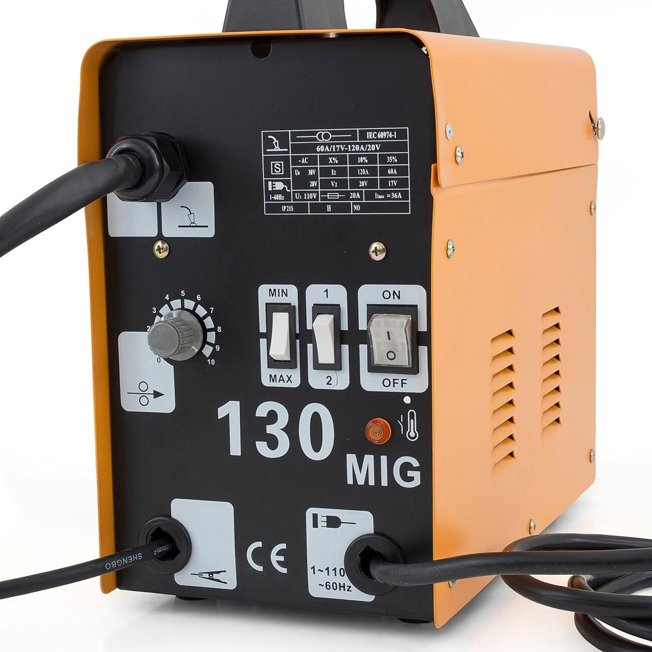 Shop Arksen MIG-130 Gas-Less Flux Core Wire Welder Welding Machine ...