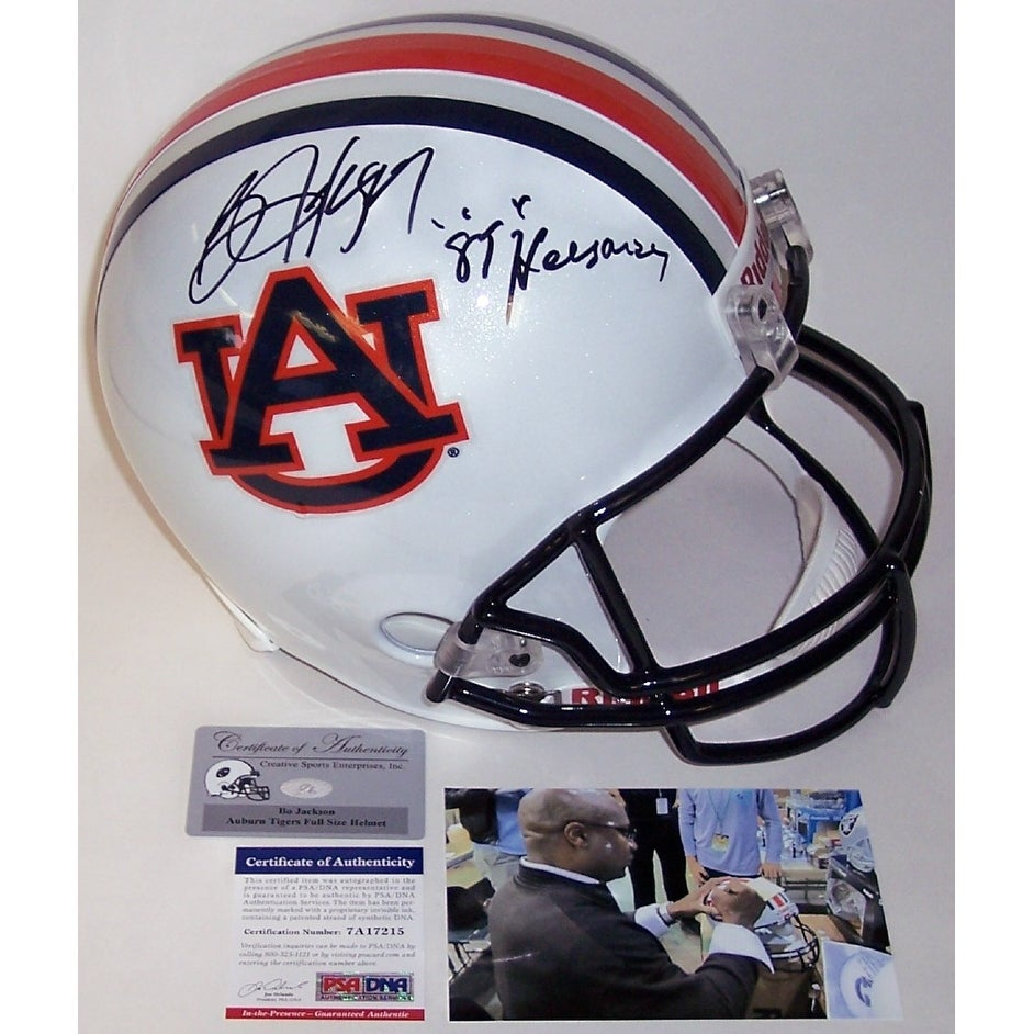 8e3aa02bf89 Shop Bo Jackson Autographed Hand Signed Auburn Tigers Full Size Helmet -  PSA DNA - Free Shipping Today - Overstock - 12785475