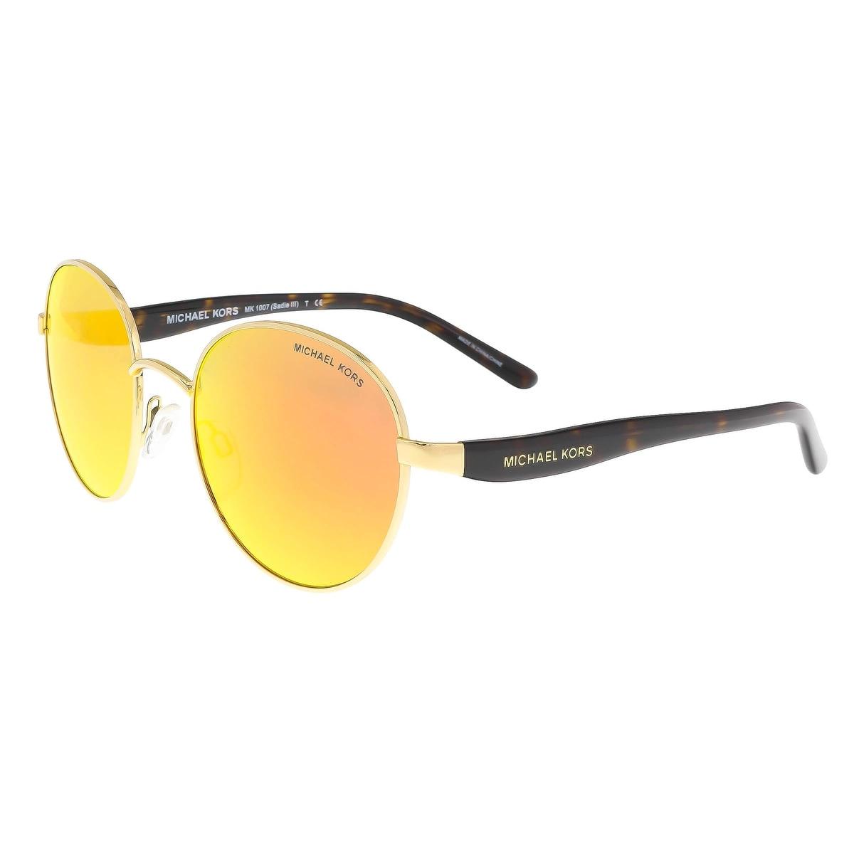 97cfad2a6b57 Michael Kors MK1007 10246Q SADIE III Gold/Tortoise Round Sunglasses -  52-19-135