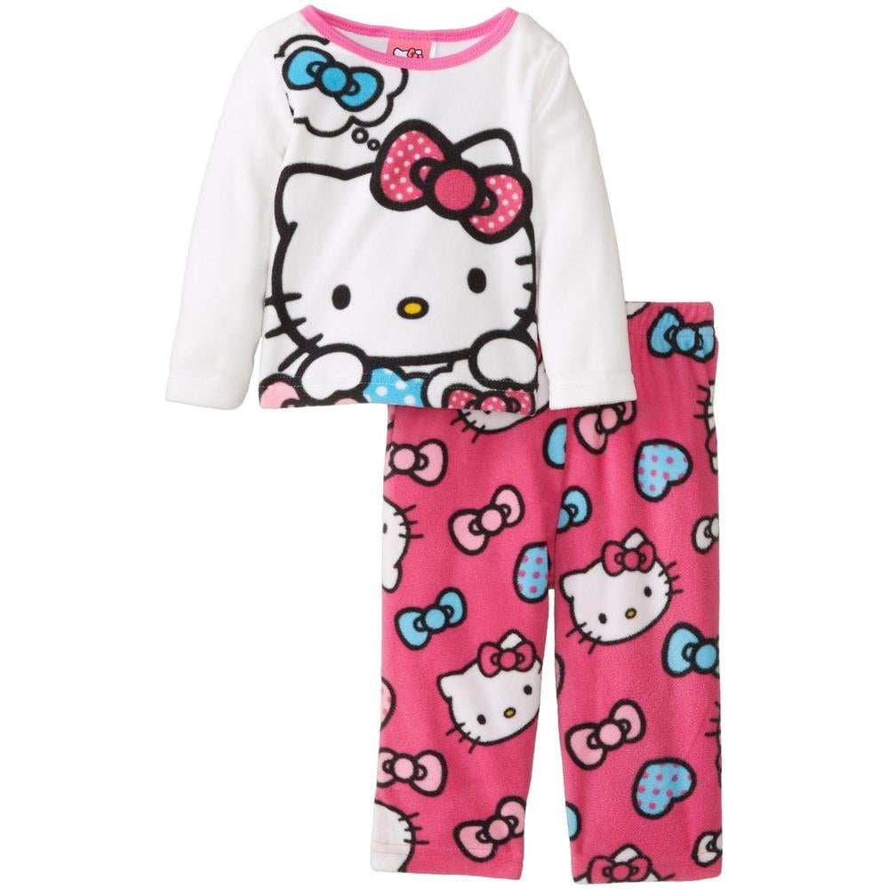 6a6f97421 Shop Sanrio Girls 2T-4T Hello Kitty Heart Micro-Fleece Pajama Set ...