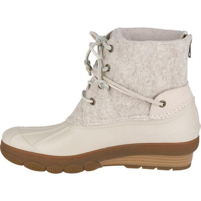 a2b9bc1c543b Shop Sperry Top-Sider Women s Saltwater Wedge Tide Duck Boot Ivory Wool EVA  - Free Shipping Today - Overstock - 18521850