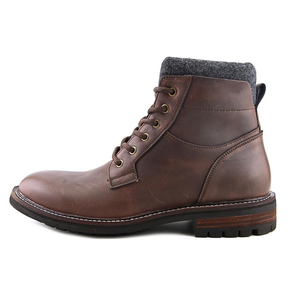 2a0c319786bfe Shop Tommy Hilfiger Hamden Men Round Toe Leather Brown Boot - Free Shipping  Today - Overstock - 13843357
