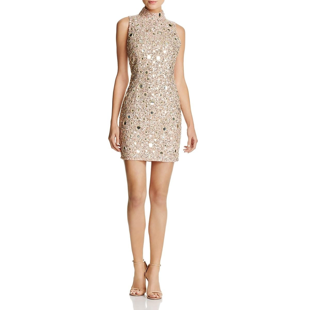 27d96a747d21 Shop French Connection Womens Eloise Mirrors Cocktail Dress Sleeveless Mini  - Free Shipping Today - Overstock - 23088947
