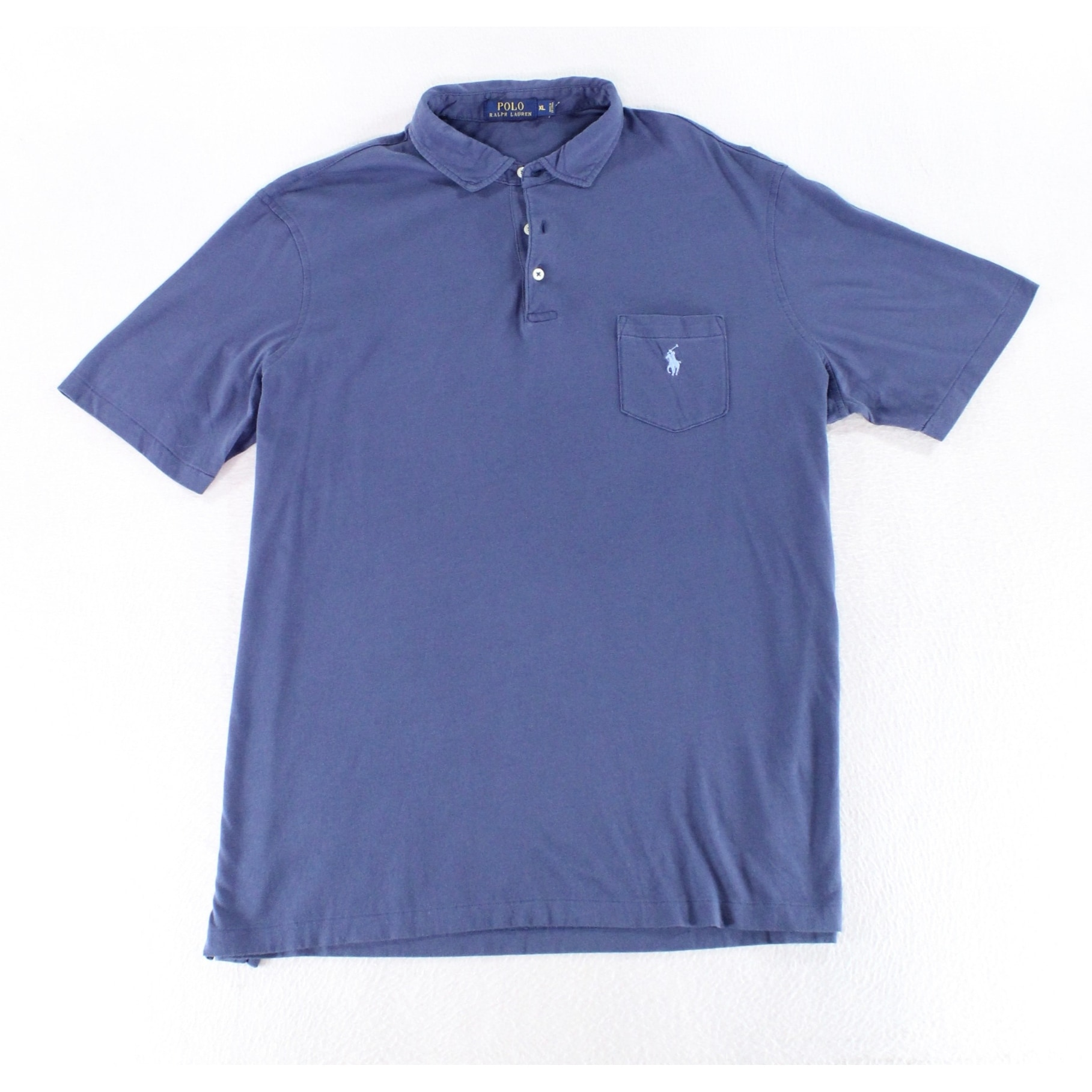 Shop Polo Ralph Lauren Solid Navy Blue Mens Size Xl Polo Rugby Shirt